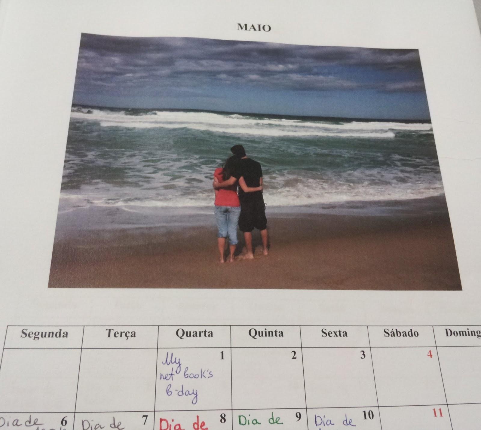 surpresa para namorado (marido) - calendário de amor
