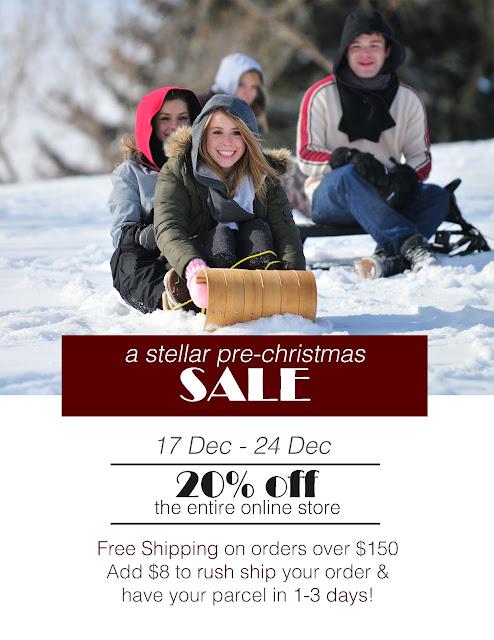 stellar hoods, christmas, sale, sale poster, stellar, december