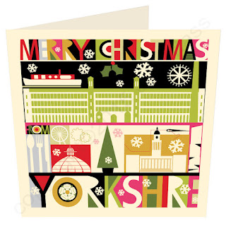 Christmas Card Yorkshire South City Scape by Wotmalike