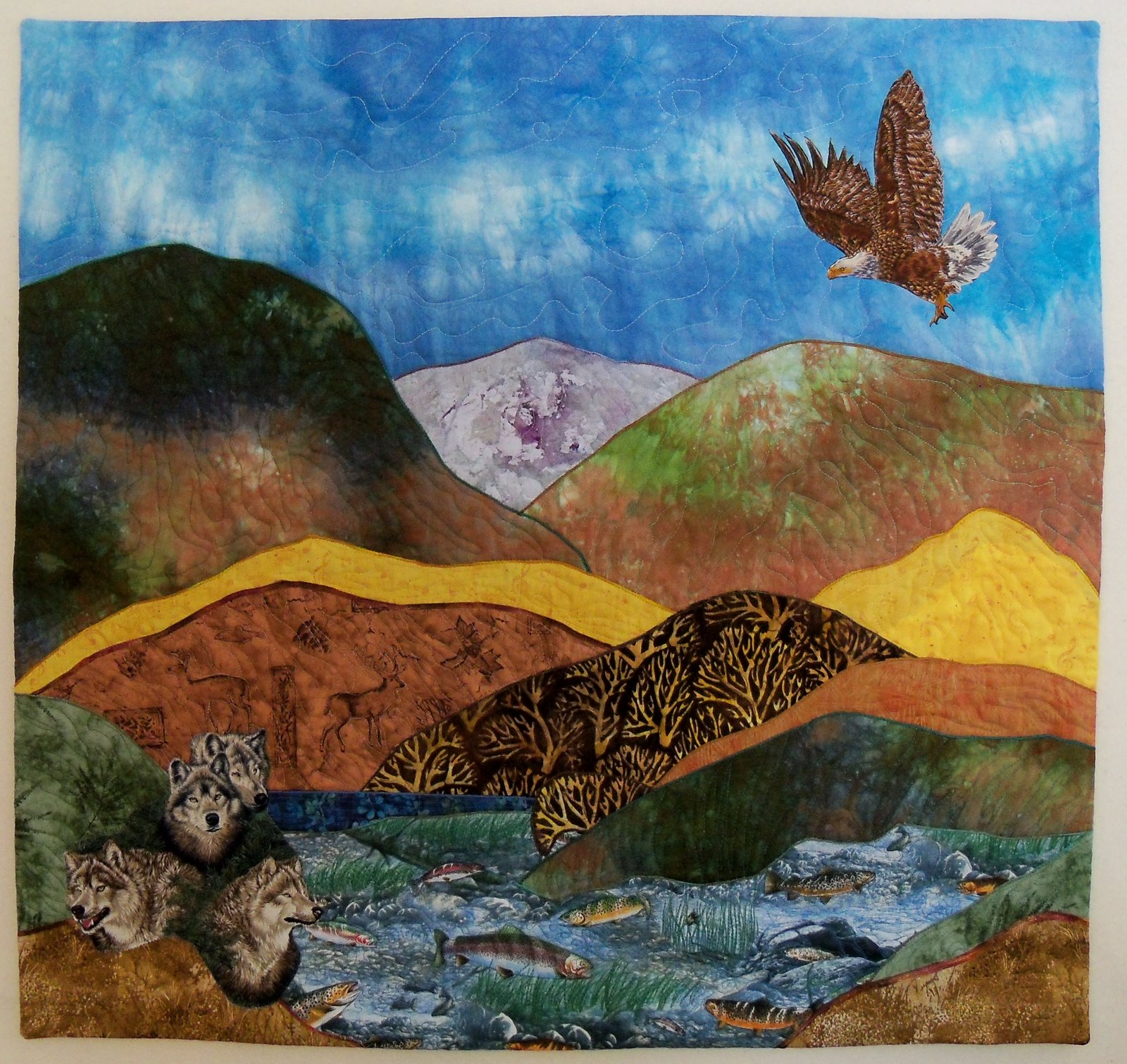 Vivian Helena Creates: Sierra Mountain Quilt Show- NOW : mountain quilts - Adamdwight.com