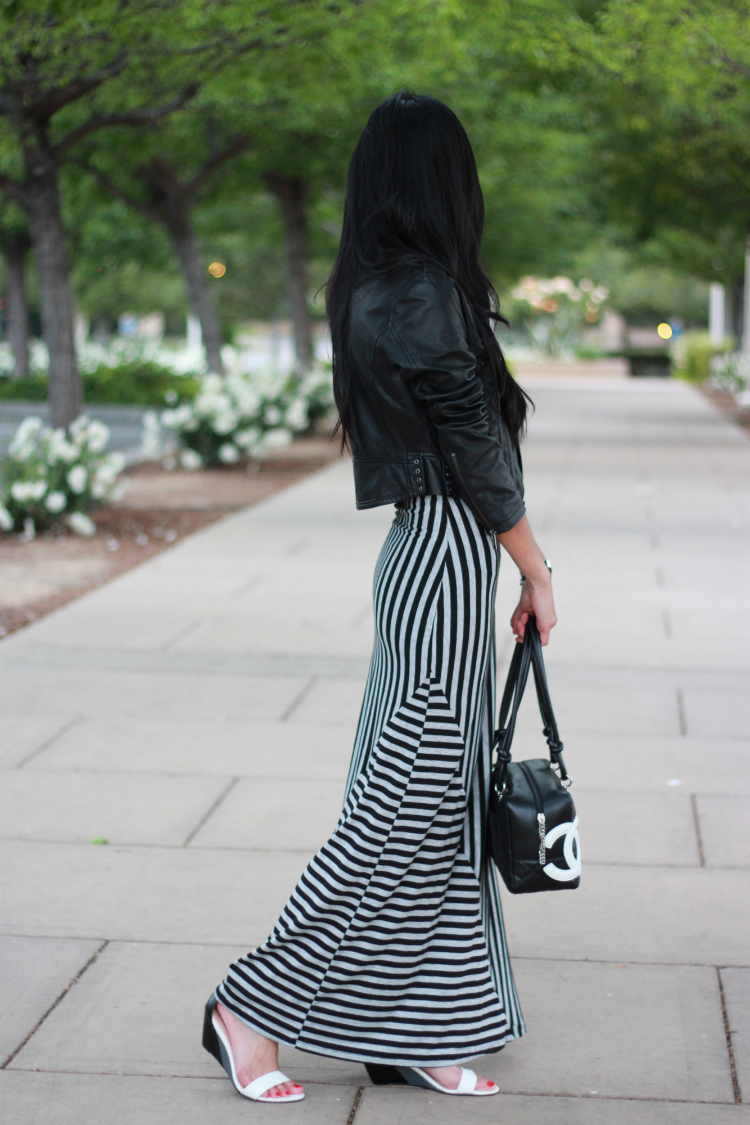 simple comfy striped maxi dress wedge chanel