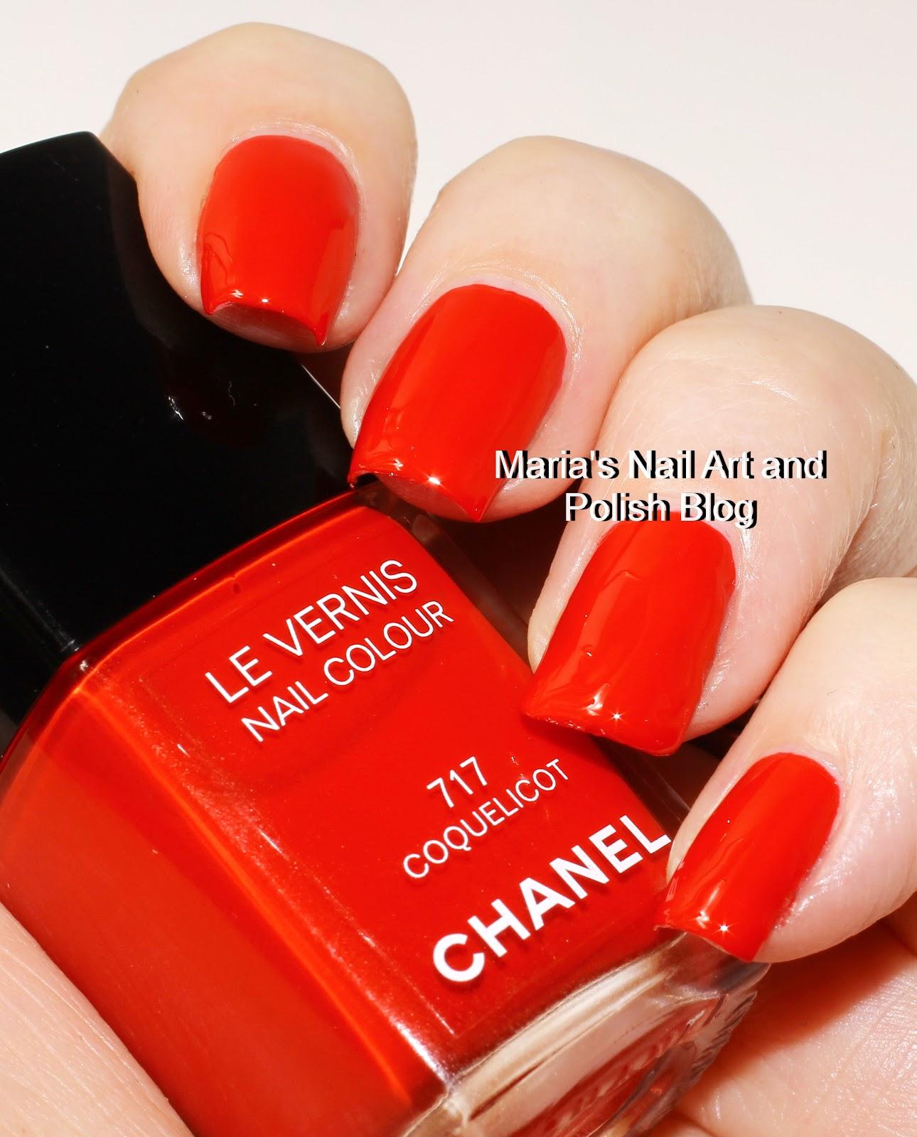 marias nail art and polish blog chanel coquelicot 717 and lavanda