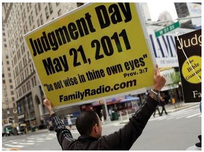 ¿FIN DEL MUNDO EL 21 DE MAYO DE 2011? Ja, ja.