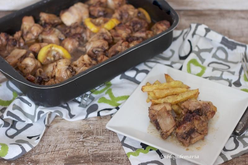 Pollo asado con tamari y tomillo, asaltablogs