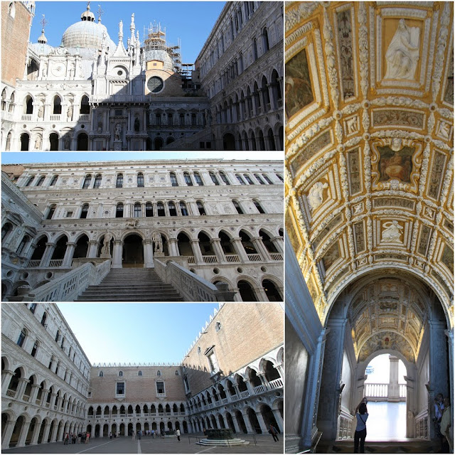 Beautiful architectural design by Gothic in Palazzo Ducale which is a well-known landmark and the symbol of Venice's political system in Venice, Italy