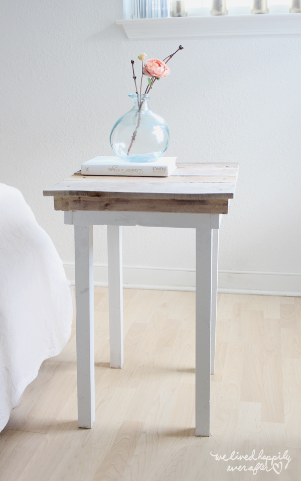 We lived happily ever after diy pallet nightstands with for Nightstand plans