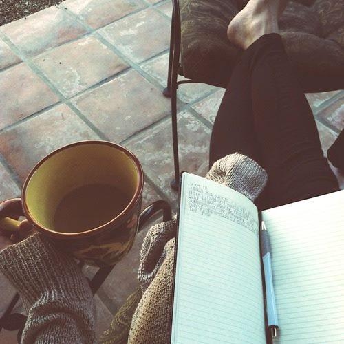 Un buen  libro, un café...