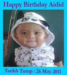 Contest Happy Birthday Aidid