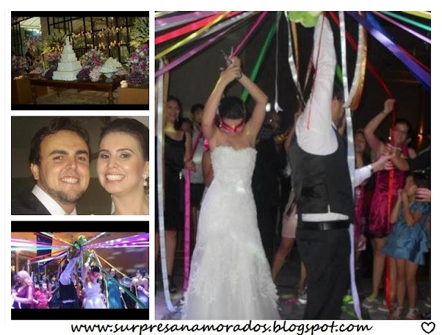 fitas coloridas casamento