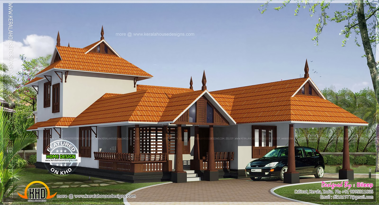 Kerala style house in 162 square meter home kerala plans for Home designs kerala style