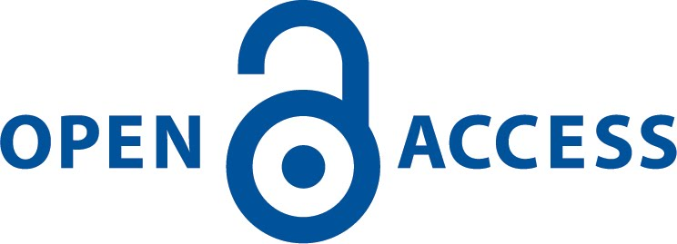 blue open access logo horizontal
