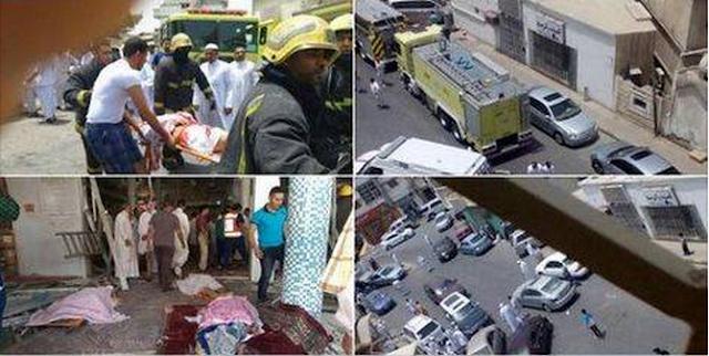 عاجل : تفجير ارهابي يستهدف مسجدا بالسعودية يسفر عن قتلى و جرحى (الفيديو)