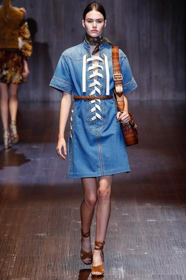 denim dress trend