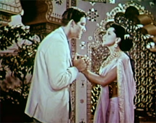 Debra Paget as Seetha and Paul Hubschmid/Christian as Harald Berger