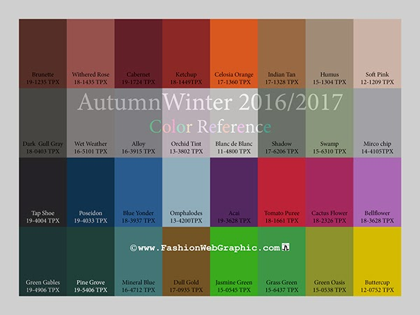 trends 2018 2019 autumn winter 2016 2017 vision color trends