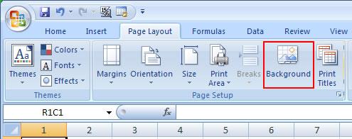 Background Pada Lembar Kerja Excel