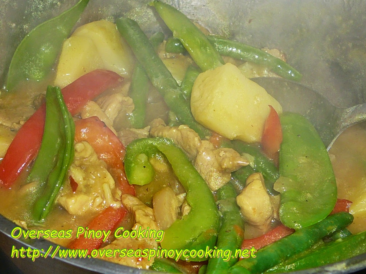Pinoy Pork Curry - Cooking Procedure