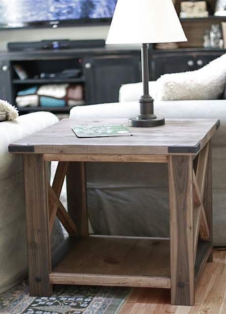 Ana white rustic x end table diy projects for Diy coffee and end tables