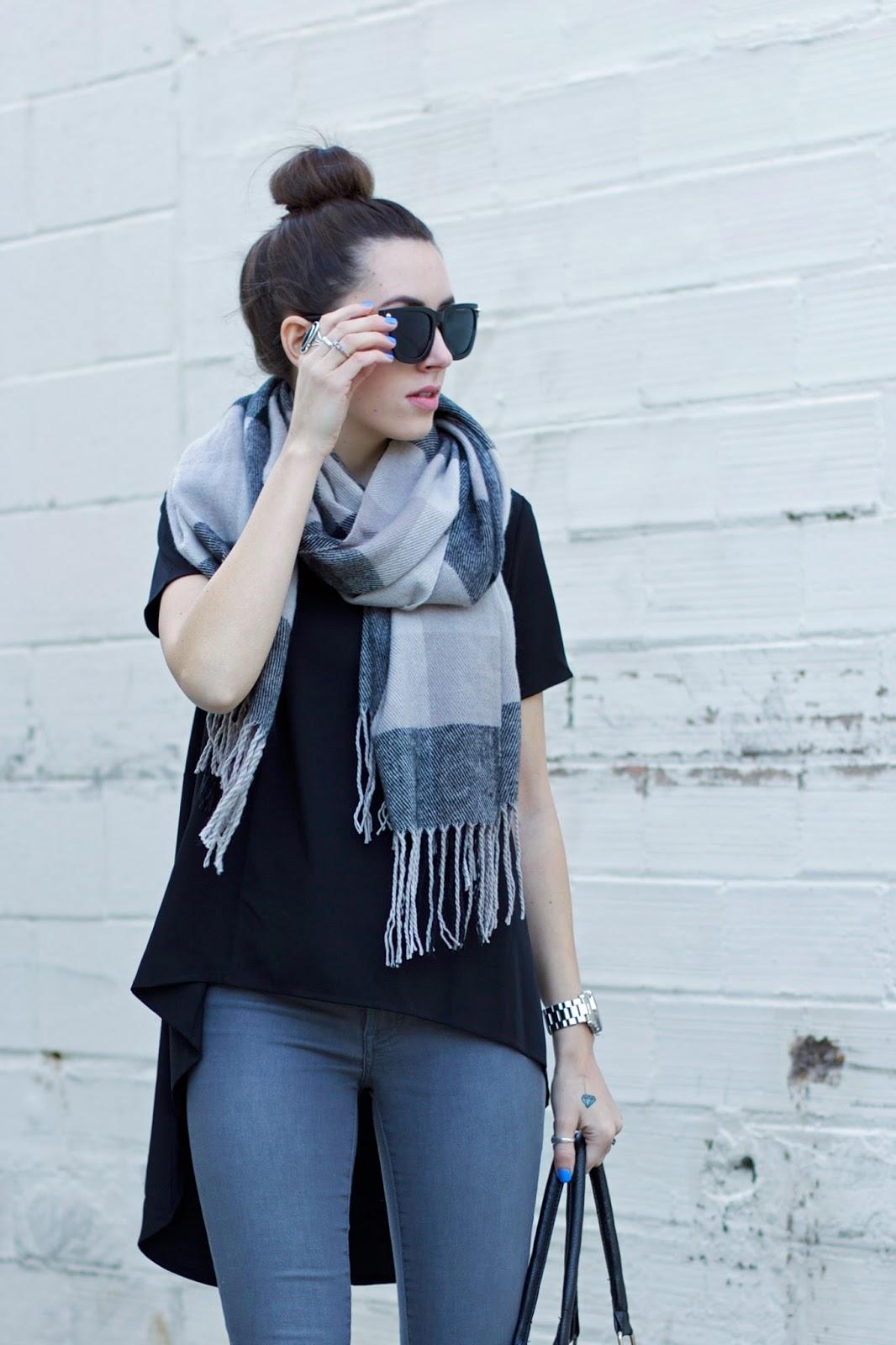 black-grey-tan-plaid-scarf