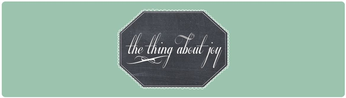 the thing about joy...