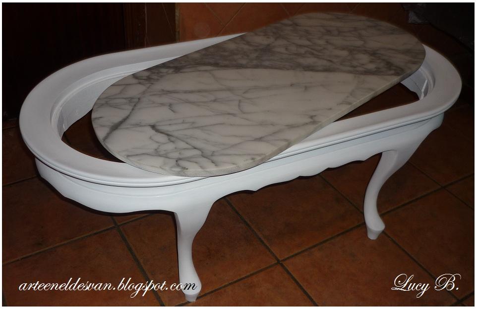 Arte en el desv n la mesa que so ser una ba era antigua for Unas color marmol