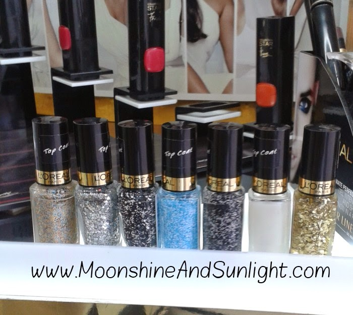 7 New L'oreal Color Riche Le Vernis Top coats || New Launch || February 2015