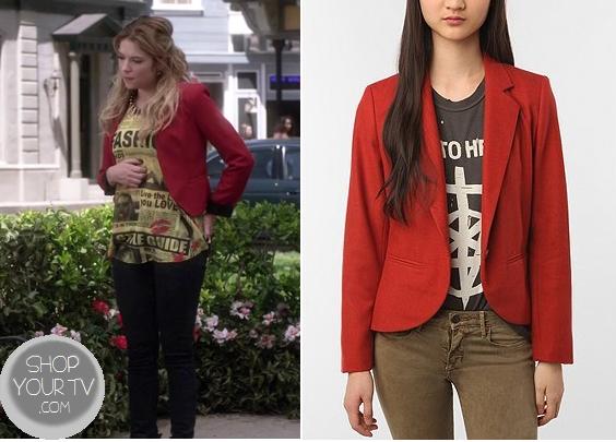 Pretty Little Liars: Season 4 Episode 4 Hanna's Red Blazer