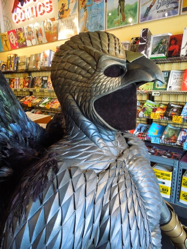 Birdman cowl costume detail