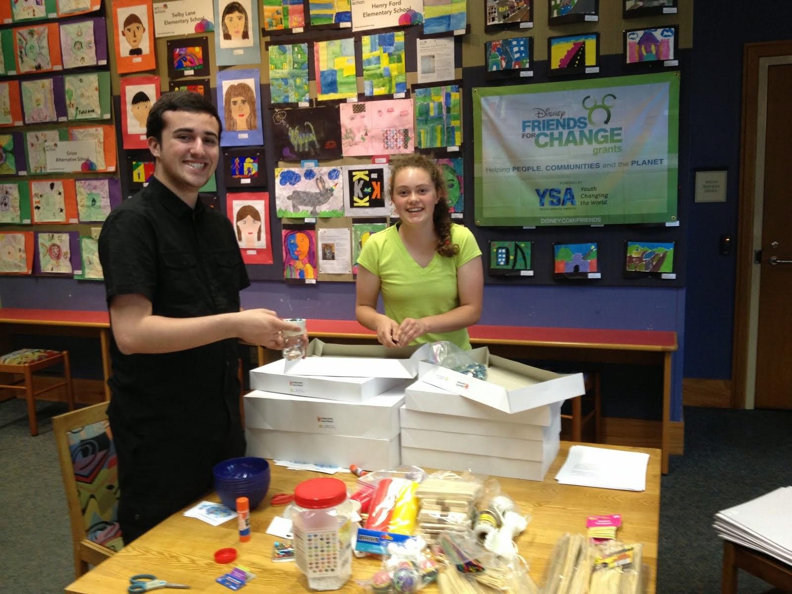 Putting together FREE STEM kits for kids