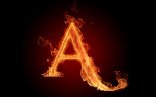 Fire Alphabet Wallpaper