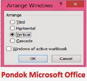 kotak dialog arrange windows