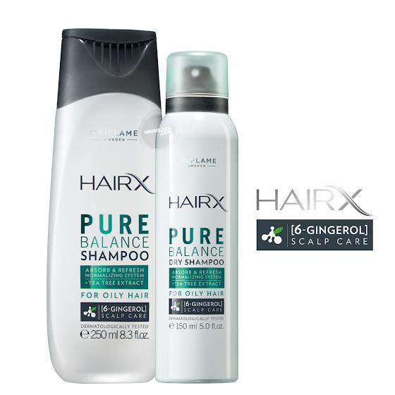 HairX da Oriflame - Puro Equilíbrio Para o Cabelo Oleoso