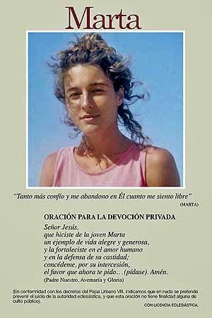 Serva di Dio Marta Obregon Rodriguez Martire della purezza