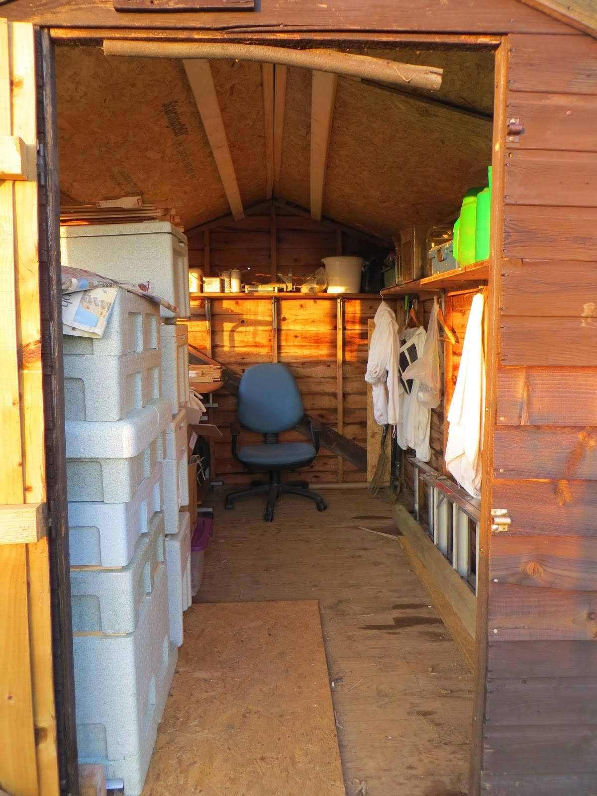 Tidy, well organised shed.