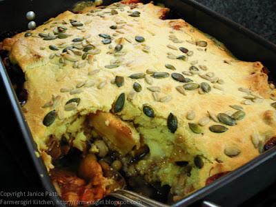 Bean Bake with Cornmeal Topping - Retro Random Recipe