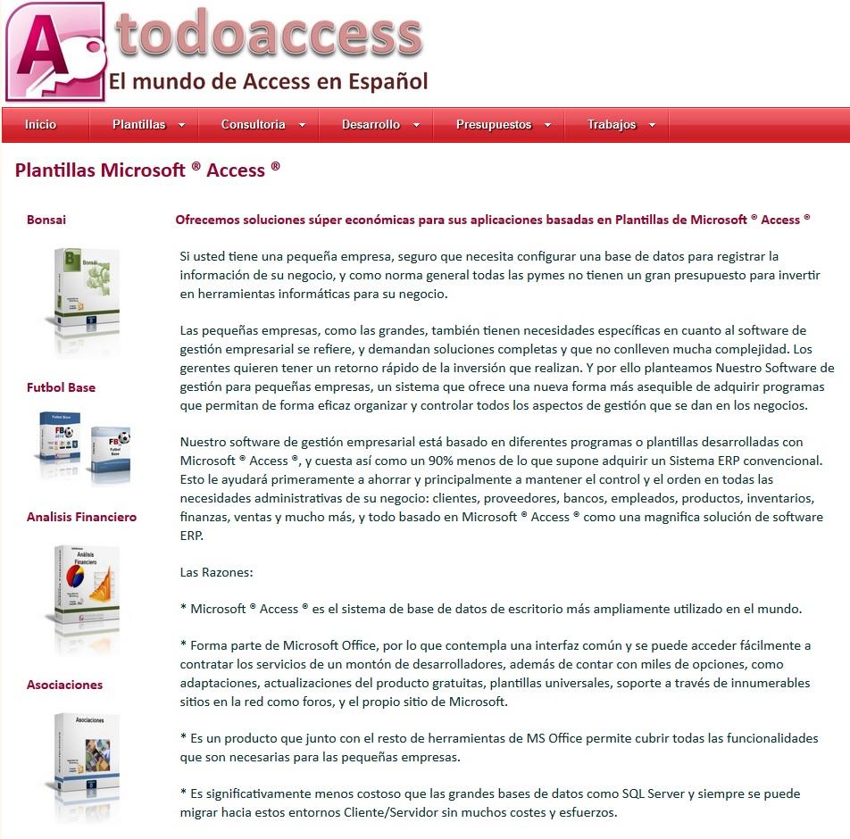 todoaccess: Aprender Ms Access con plantillas profesionales