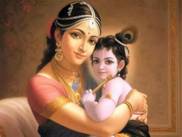 Baby Krishna with Mother Yashoda