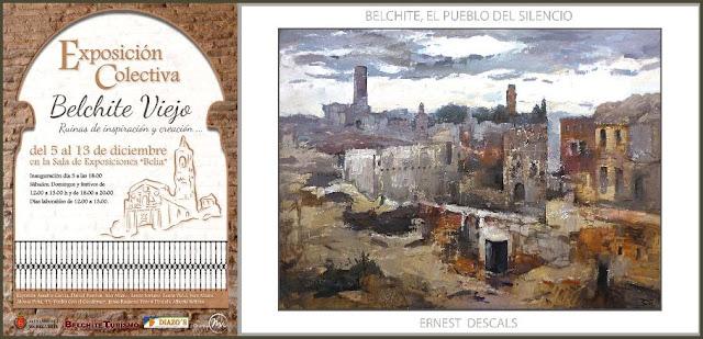 BELCHITE VIEJO-PINTURA-ARTE-EXPOSICION-PINTURAS-PAISAJES-RUINAS-ARTISTA-PINTOR-ERNEST DESCALS