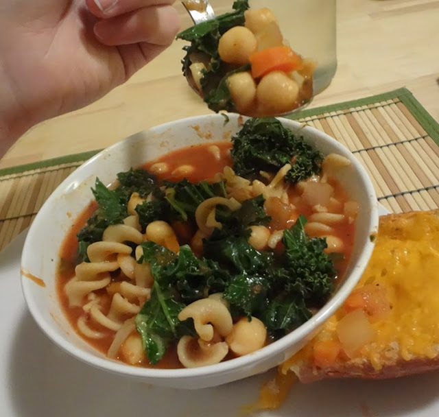 vegetable chickpea and pasta soup