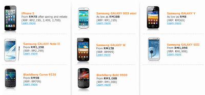 Senarai Telefon Pintar Rebat RM200 Celcom (Pascabayar)