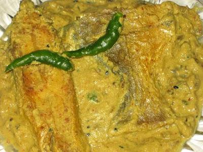 pomfret curry/pomfret macher jhal