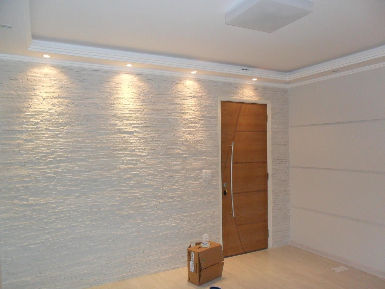 Gesso De Sala Pequena ~ Aqui a sanca tambem aberta, so que em um ambiente mais clean  talvez