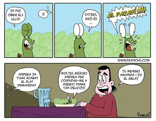 Tira comica del webcomic la tira de cargols & Andrea Down