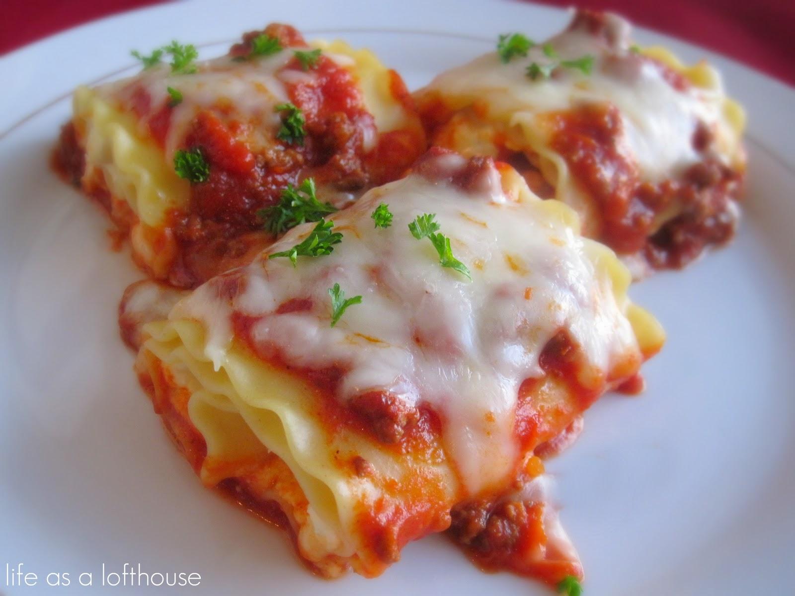 Cooking Recipes: Lasagna Roll Ups