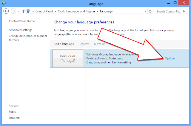 Windows 8 Inglês para Português