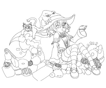 #2 Witch Coloring Page