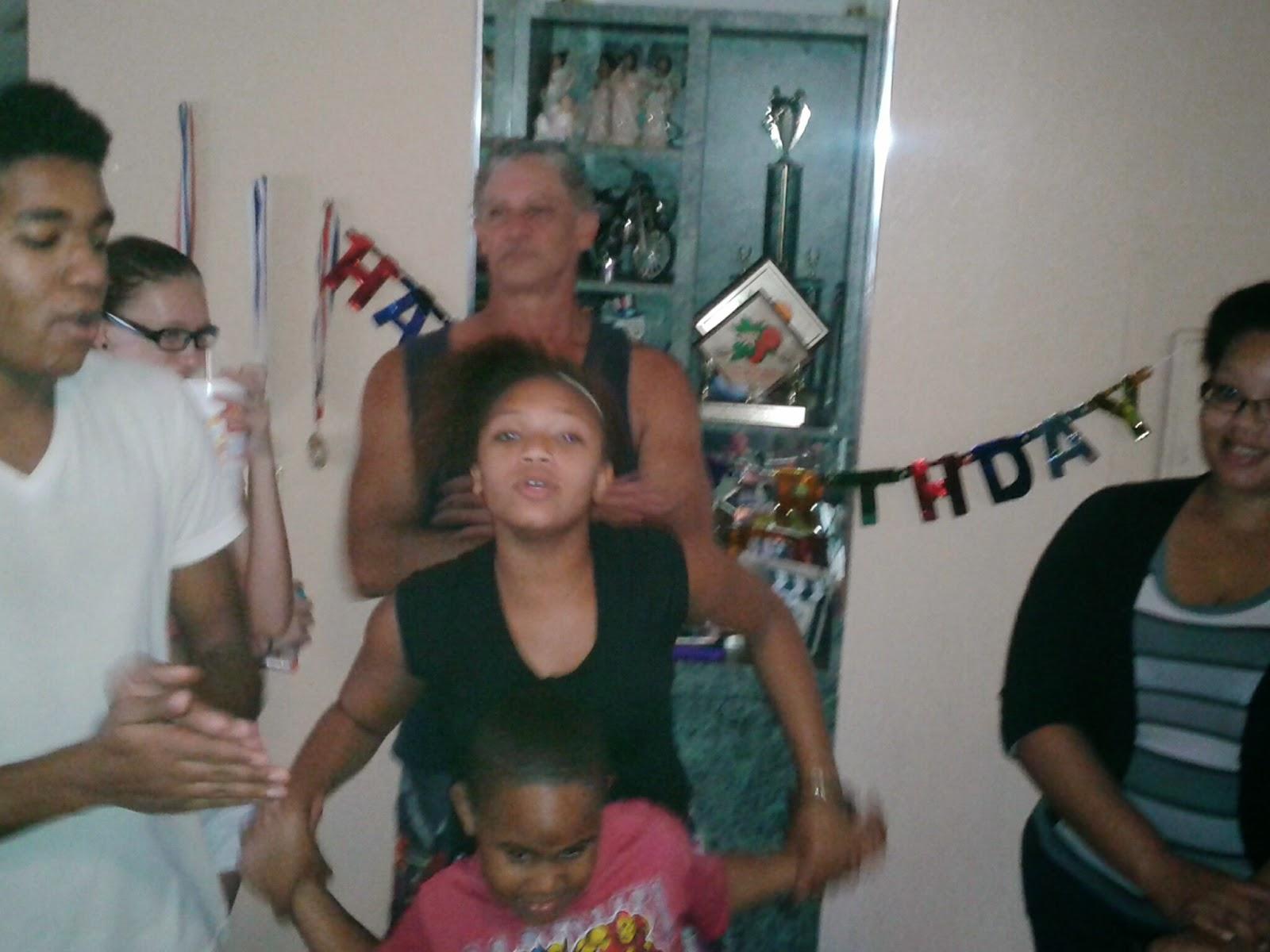 Making merry at Adam's birthday - Cake time