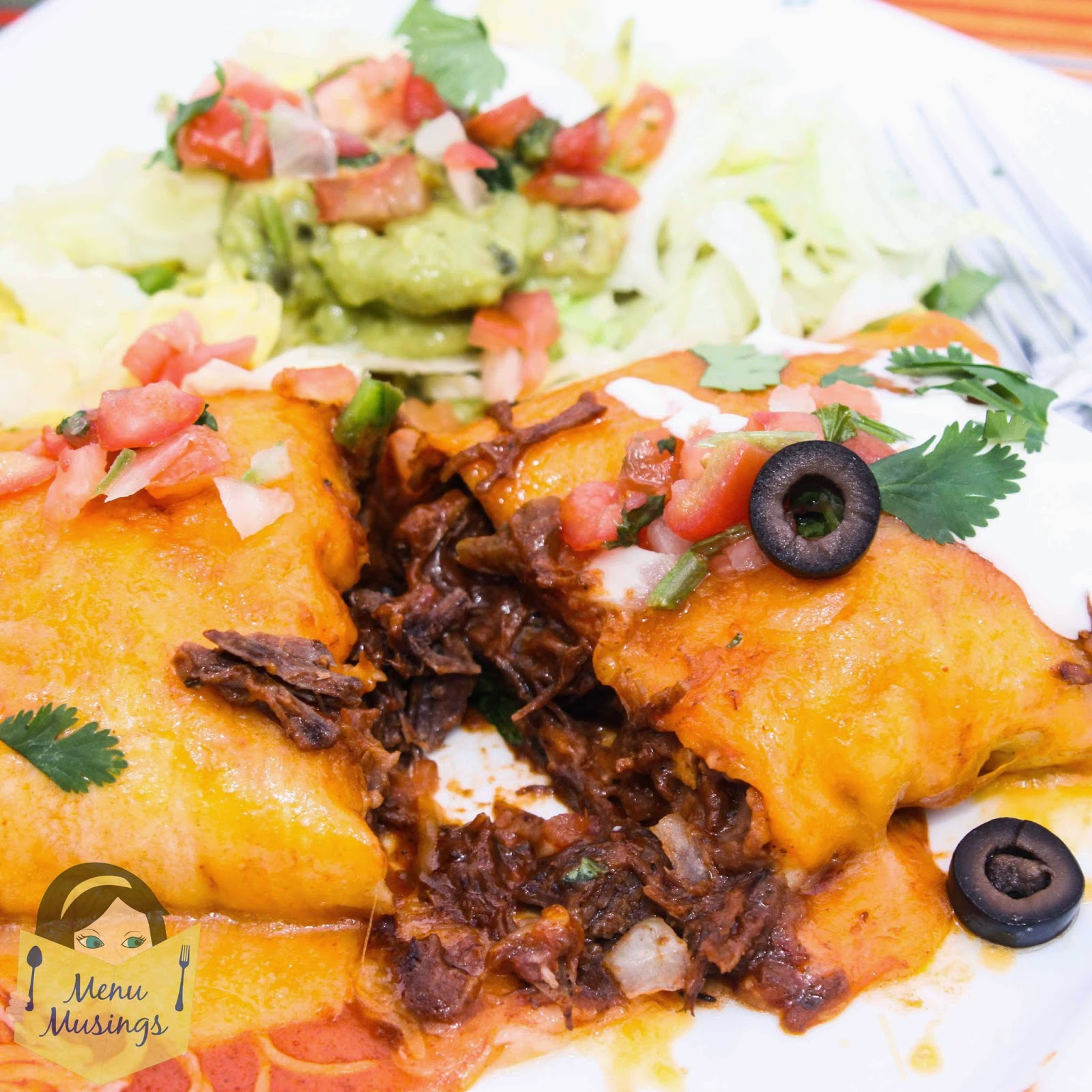 Chili Colorado Burritos @ menumusings.com