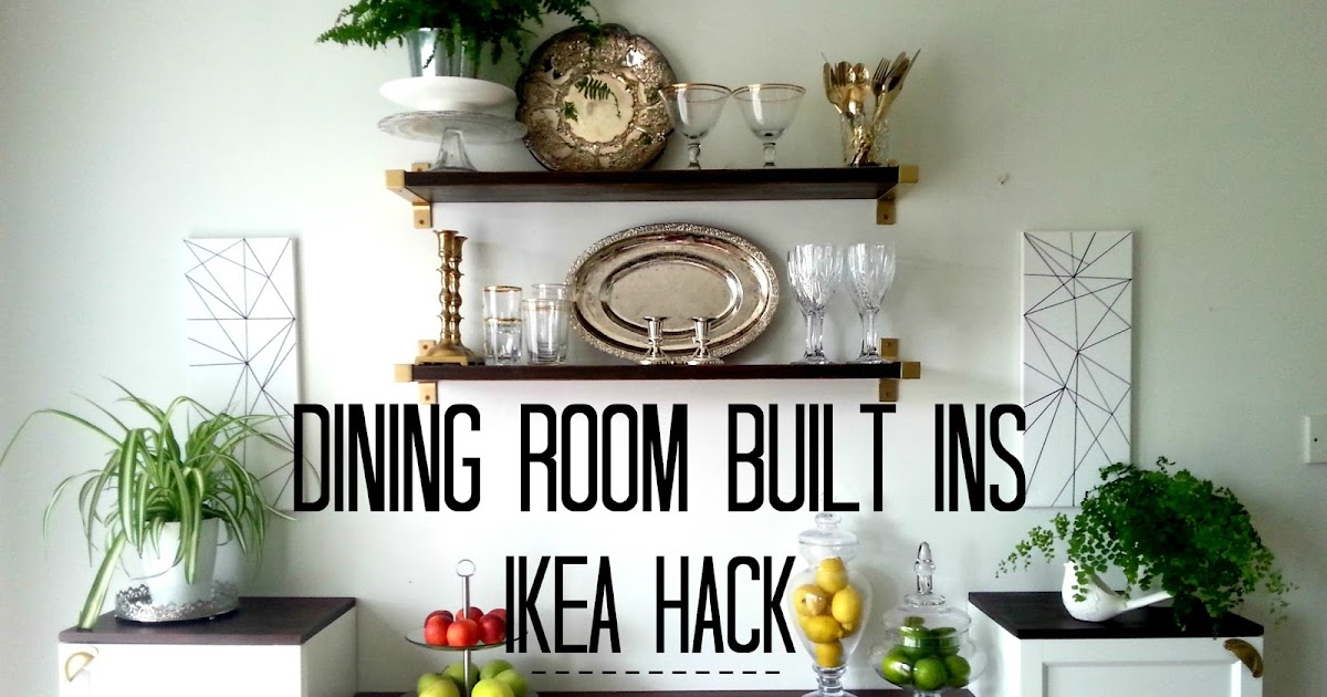 Ikea-hack for built-in dining room storage...when you have to work ...