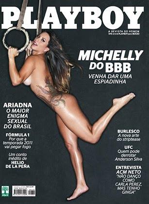 Confira as fotos da musa do Big Brother Brasil 11, Michelly CrisFePe, capa da Playboy de março de 2011!